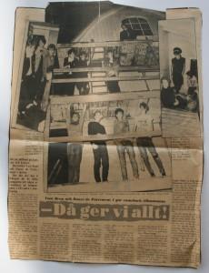 Förhands i JP inför Sex Machines premiärspelnigen i februari 1983